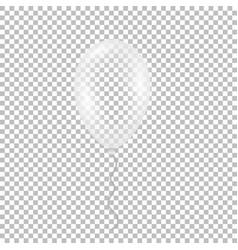 Transparent helium balloon vector