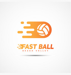 volleyball club logo vector image
