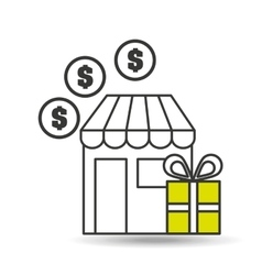 e-commerce store gift money icon vector image