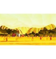 Farm rural landscape background vector