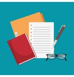 Notebook paper office icon vector
