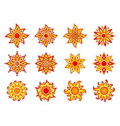 Stylized suns vector image