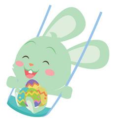 Happy easter bunny design art vector