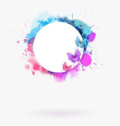 Watercolor imitation multicolored background vector