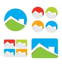 Set of real estate house icons vector