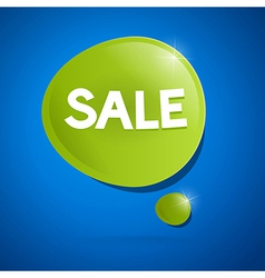 sale bubble vector image