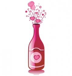 love bottle vector image