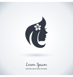 Beautiful woman logo vector