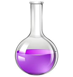 Glass beaker with purple liquid vector