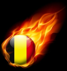 Round glossy icon of belgium vector