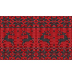 red and black christmas jumper vector image