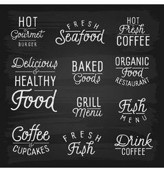 Slogans for cafe and restaurant vector