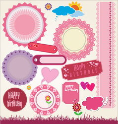 Elements for scrapbooking vector