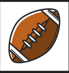 american football ball in graphic design on white vector image vector image