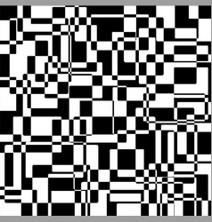 Black and white abstract squares texture vector