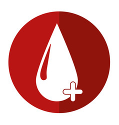 blood drop donate donor cross shadow vector image