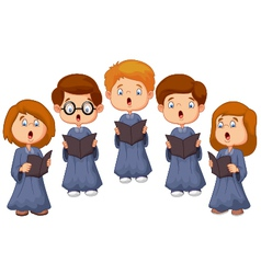 Children choir vector image