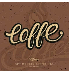 Coffee logo background vector