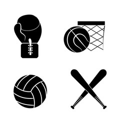 contour diferents plays balls icon vector image