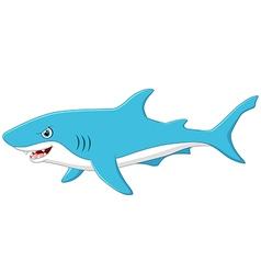 Cute cartoon shark vector