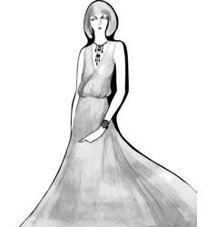 Elegant lady vintage llustration vector