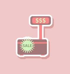 Fashion patch sale sticker cash machine sale vector