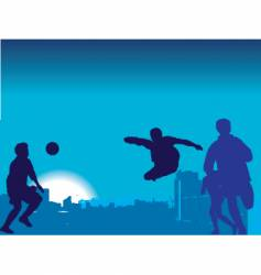 football game nighttime vector image vector image