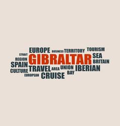 Gibraltar relative tags cloud vector