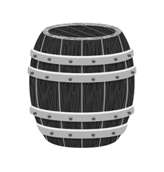 Grayscale wooden barrel icon image design vector