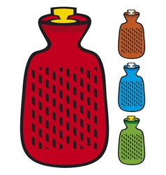 Hot water bottle vector