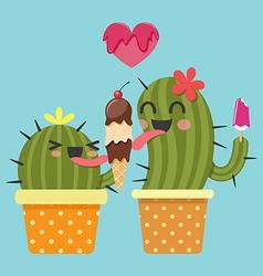 Icecream cactus vector