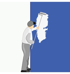 man painting vector image vector image