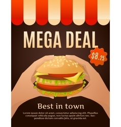 Mega Deal Infographics vector image vector image