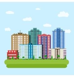 Modern city downtown green centre vector