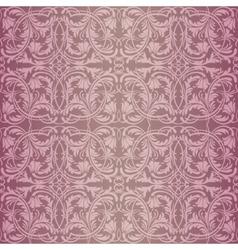 Pink baroque pattern vector