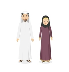 Saudi arabia traditional clothes people vector