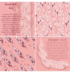 set of cute cards and patterns vector image vector image
