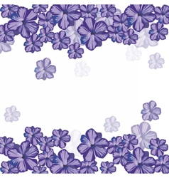 Spring Summer floral greeting card vector image vector image