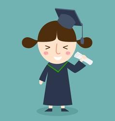 student graduation vector image