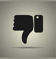 thumbs down icon vector image vector image
