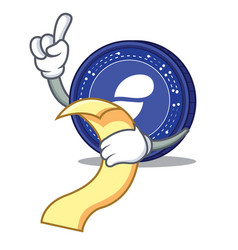 With menu status coin mascot cartoon vector