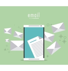 Envelope and smartphone icon email design vector