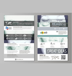 blog graphic business templates page website vector image