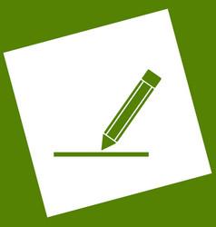 pencil sign   white icon vector image