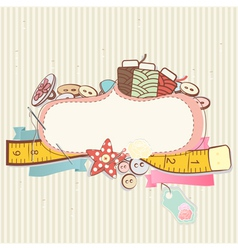 Sewing accessories vector image