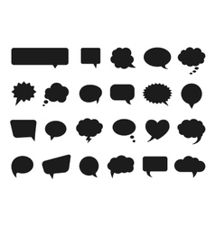 Talk and think comics bubbles silhouettes vector