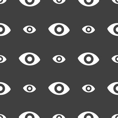 Sixth sense the eye icon sign seamless pattern on vector