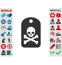 Death sticker icon vector
