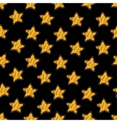 Yellow star on black seamless pattern vector