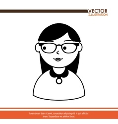 avatar person design vector image